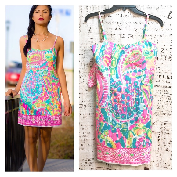 df02bd7723ec9e Lilly Pulitzer Shelli Dress Come Out Of Your Shell.  M_5afe40f8a825a679145c1de9